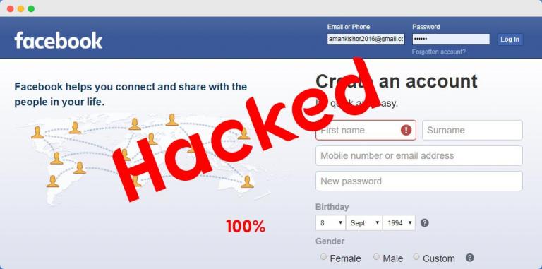facebook account password कैसे hack करे