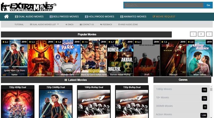 ExtraMovies  Download Hollywood, Bollywood Hindi Dubbed