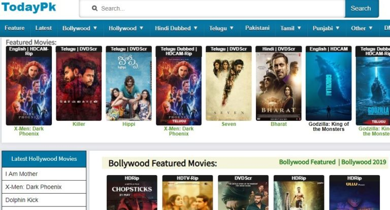 TodayPk 2021- Latest Telugu   Bollywood Movies Watch   Download