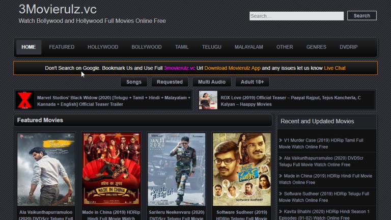 Movierulz vpn Telugu malayalam kannada Movies Download
