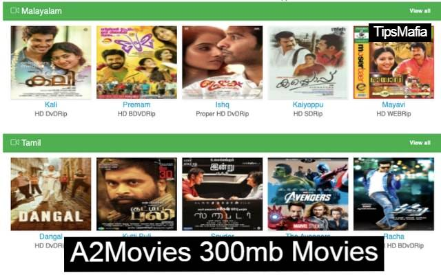 A2Movies Tamil Malyalam Latest Movies Download